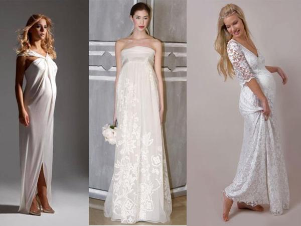 Свадебные платья на животик